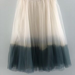 Dip Dyed ombre tulle skirt from Anthropologie